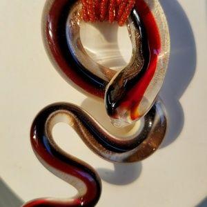 ***SOLD****Genuine Murano Glass Snake Pendant